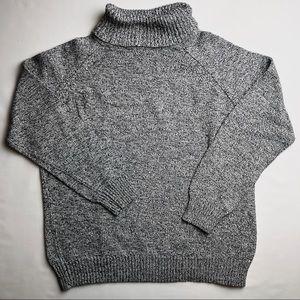 KAREN SCOTT Gray Cowl Turtle Neck Sweater